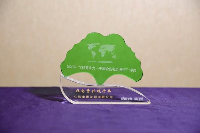 仁和集团获2020年中国企业社